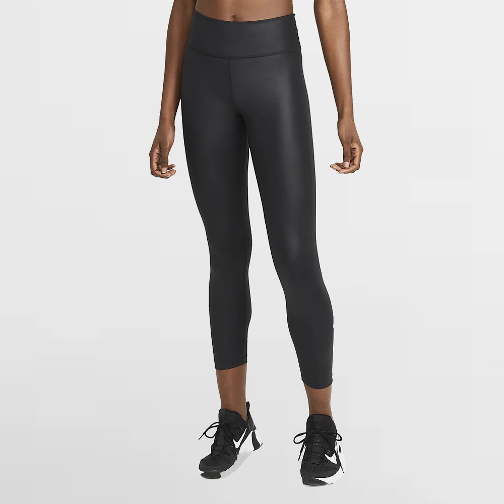NIKE LEGGING W. ONE-MID RISE 7/8 FAUX LEATHER - DC7174 010